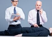 Doctor business and mister Office — Stock Photo