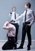 Staff downsizing means cutting jobs — Stock Photo