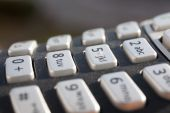 Closeup of a numeric keypad in direct sunlight — Stock Photo