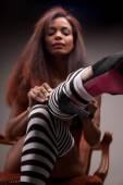 Африканских сексапильная модель — Стоковое фото