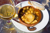 Chickpeas with meat — Stock Photo