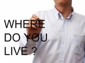 Mann mit frage — Stockfoto