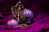 Christmas ornaments on background — Stockfoto