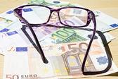 Notas de euro — Fotografia Stock