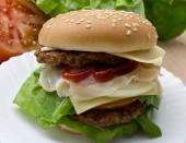 Cheeseburger isolated — Stock Photo