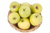 Isolated green apples — Stock Photo