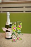 Beautiful glasses and bottle 704. — Foto de Stock