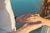 Embraces of hands 836. — Stock Photo
