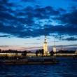 Night photos of the Peter and Paul Fortress 1199. — Stock Photo #55886927