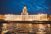 City of St. Petersburg, night views from the motor ship 1187. — Stock Photo