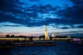 Night photos of the Peter and Paul Fortress 1199. — Stock Photo