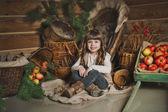 New Years scenery and happy child 1453. — Stock Photo