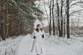 Snow Maiden Father Frosts granddaughter 1475. — Stock Photo
