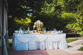 Table with entertainments in park 1482. — Stock Photo