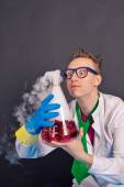 Entertaining chemistry and mad scientists 1537. — Stock Photo
