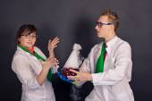 Entertaining chemistry and mad scientists 1542. — Stock Photo