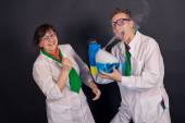 Entertaining chemistry and mad scientists 1552. — Foto de Stock