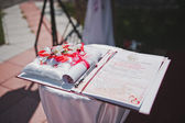 Table for weddings 1611. — Stock Photo