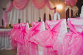 Room for celebration of a wedding celebration 1648. — Stock Photo