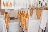 Room for celebration of a wedding celebration 1665. — Stock Photo