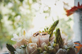 Rings on roses 1783. — Stock Photo