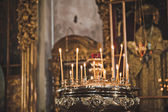Candles in church in the city of Arzamas 2322. — Stockfoto