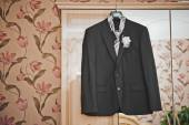 Suit on a hanger 2376. — Stock Photo