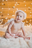 The girl with wings of an angel 2943. — Stock Photo