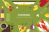 Cooking desk header — Stock Vector