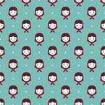 Russian doll matreshka seamless pattern — Stock Vector #62504147