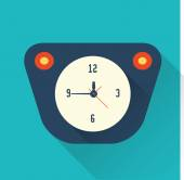 Vector clock icon flat style — Stock Vector