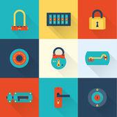Locks icons — Stock Vector