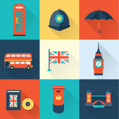London vintage icons — Stock Vector