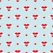 Valentines heart pattern — Stock Vector #64615997