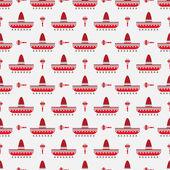 Sombrero and maracas pattern — Stock Vector