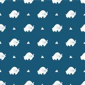 Polar bear pattern — Stockvektor
