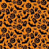 Halloween vector seamless pattern — Stockvektor
