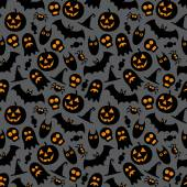 Halloween vector seamless pattern — Stock Vector