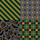 Set of halloween patterns — Stock Vector