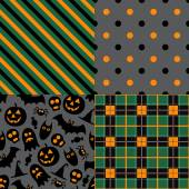 Set of halloween patterns — Vector de stock