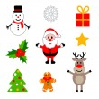 Set of colorful christmas decorations. — Stock Vector #57739395