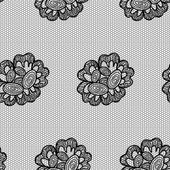 Lacy flower seamless pattern. — Stock Vector