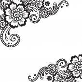 Narożnik ornament kwiat wektor — Wektor stockowy