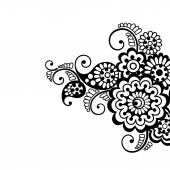Flower vector ornament background — Stock Vector