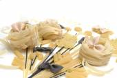 Bunch of macaroni, spaghetti, pastes  on a white background — Stock Photo