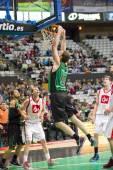 Basketball slam dunk — Stockfoto