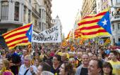 Protest for Catalonia independence — Stock Photo