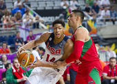 Anthony Davis of USA Team — Stock Photo