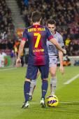 David Villa of FCB — Stock Photo