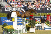 Horse jumping - Malin Baryard Johnsson — Stock Photo